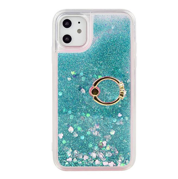 Liquid Quicksand Phone Case  Ring Kickstand Soft TPU Case
