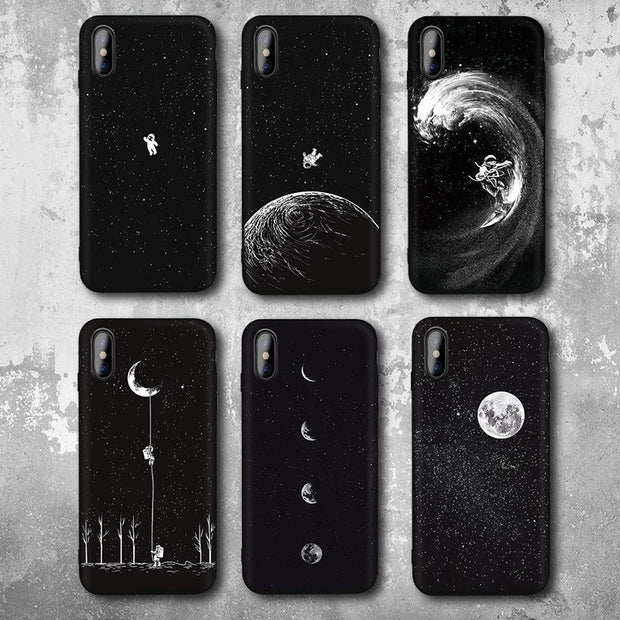 Space Moon Astronaut iPhone Case
