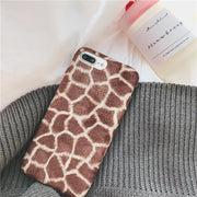 For iphone 7 7Plus Case Winter Soft Warm Plush fur phone Case For iphone X 6 6s 6Plus 8 8plus TPU Case back cover