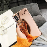 Simple plating mirror phone Cases for iphone X XR XS XS Max shiny silicone Case For iphone 6 6s 7 8 7plus back cover