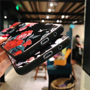 Floral Leaves Back Cover For Samsung-The Mobi World