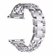 Cuban Link Stainless Steel Band For Apple Watch-The Mobi World