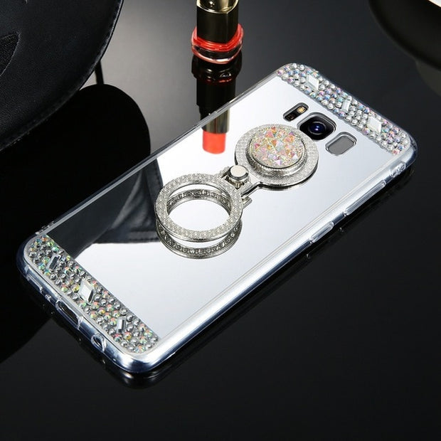 Platinum Crystal Mirror Phone Case-The Mobi World