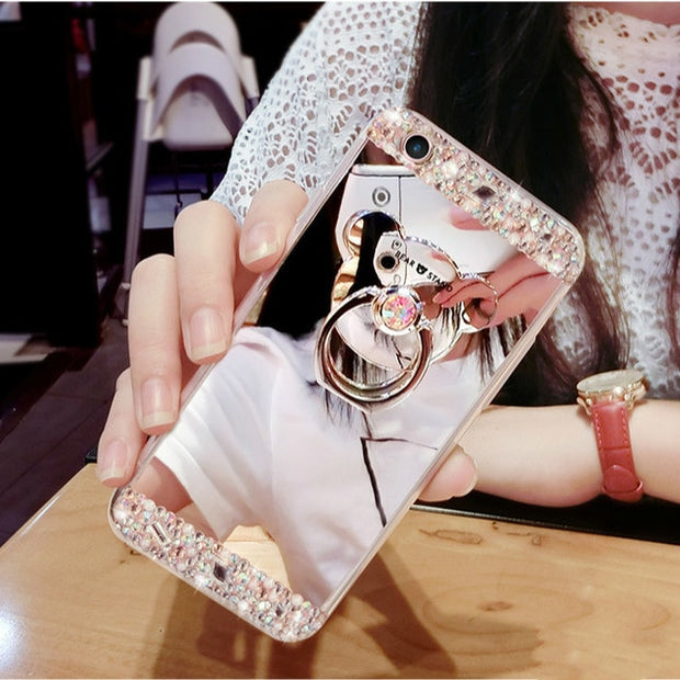 Crystal Mirror Phone Case-The Mobi World