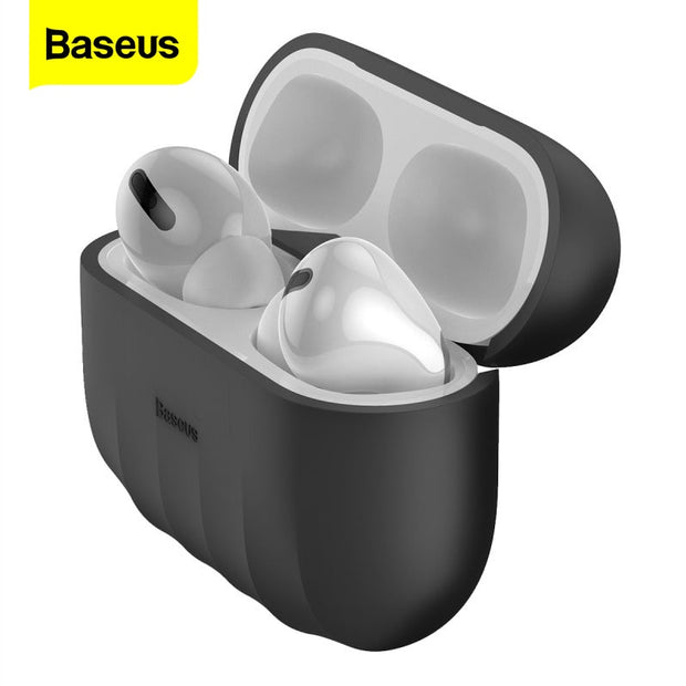 Baseus Silicone Case For Airpods Airpod Pro 3 Gel Luxury Cute Protective Cover Case For Apple Air Pods Pod Pro Skin Coque Fundas-The Mobi World