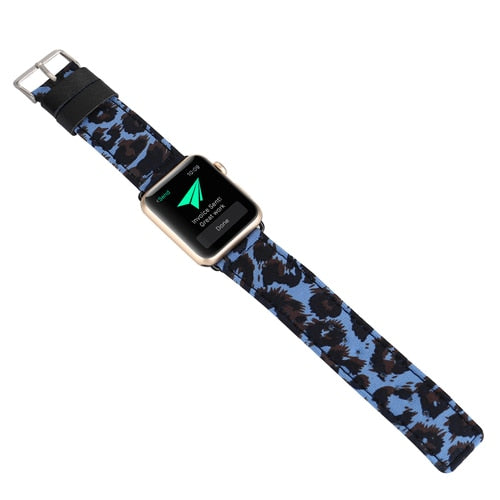 Cheetah Leather Strap for Apple Watch band-The Mobi World