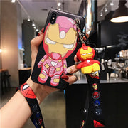 3D Mini Marvel Cartoon Case-The Mobi World