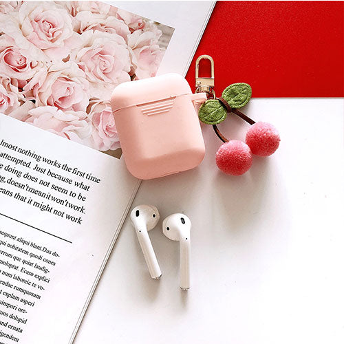 Cute Korean Silicone Case w/ Cherry KeyRing-The Mobi World
