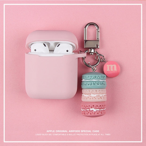Cute Korean Silicone Case w/ Candy Cakes KeyRing-The Mobi World