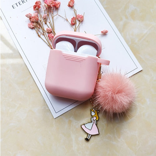 Cute Korean Silicone Case w/ Fuzzy KeyRing-The Mobi World