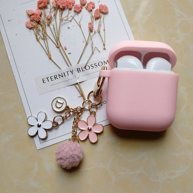 Cute Korean Silicone Case w/ flower KeyRing-The Mobi World
