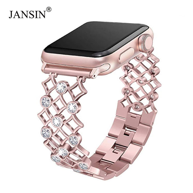 Women Diamond watch Band for apple Watch-The Mobi World