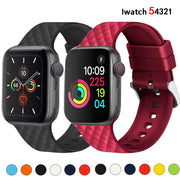 Diamond Pattern Silicone Watchband For Apple Watch-The Mobi World