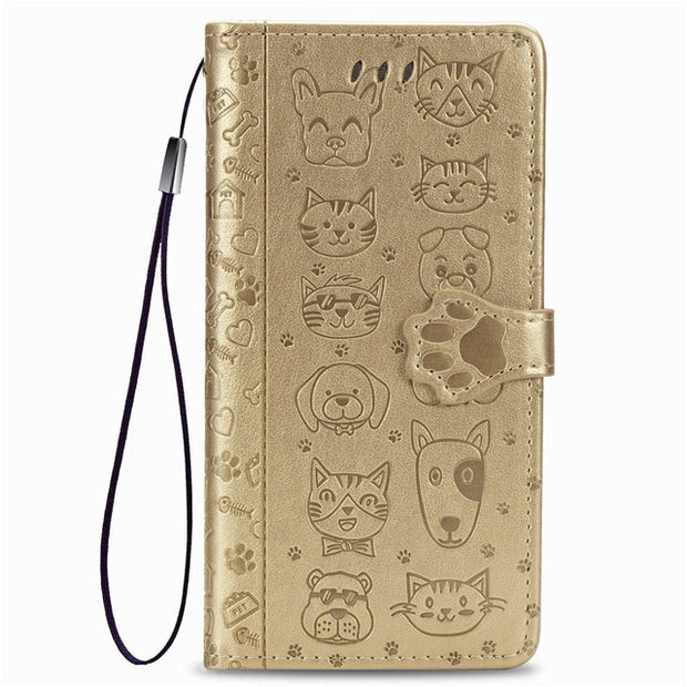 (Gold)Pet Party Leather Case-The Mobi World