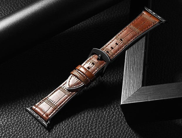 Leather Strap for apple watch band-The Mobi World