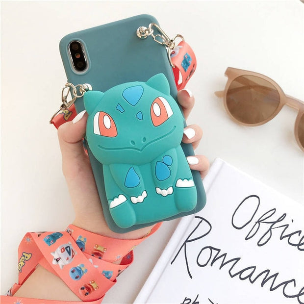 Zipper Wallet Pokemon Phone Case-The Mobi World
