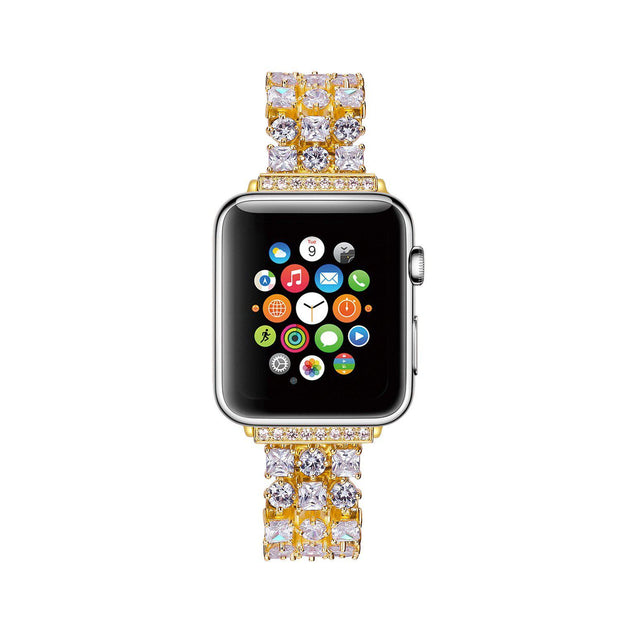 women Diamond Studded watch bracelet for apple watch band-The Mobi World