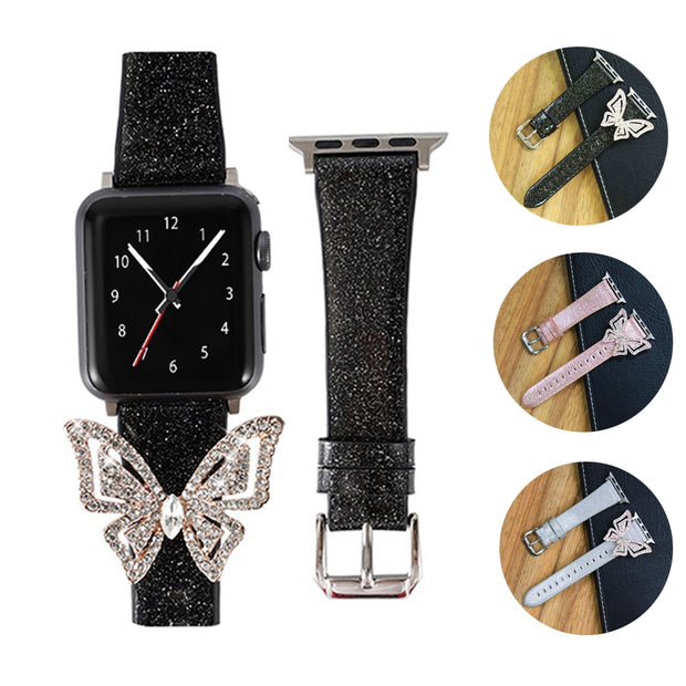Butterfly Diamond Women Watch Band for Apple Watch-The Mobi World