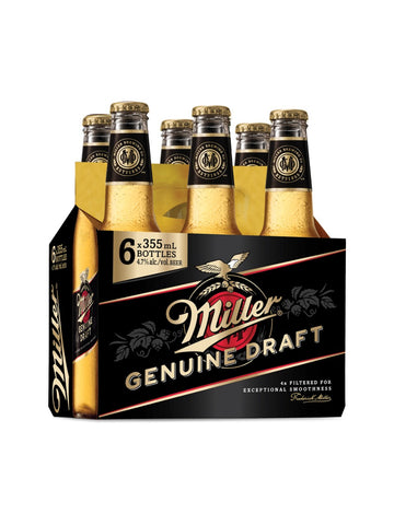 Miller Genuine Draft (355 mL Bottles)
