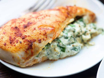 Chicken Breast Stuffed with Mozzarella & Spinach
