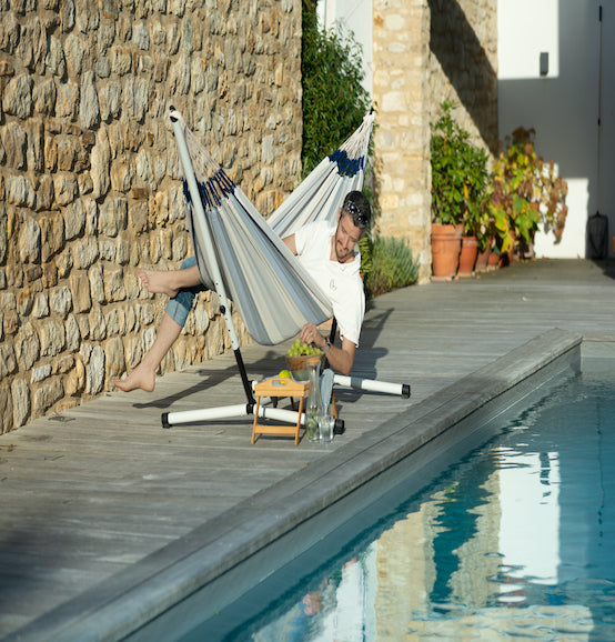 Nautico Cool Grey - Powder Coated Stand for Double Hammocks - HangingComfort