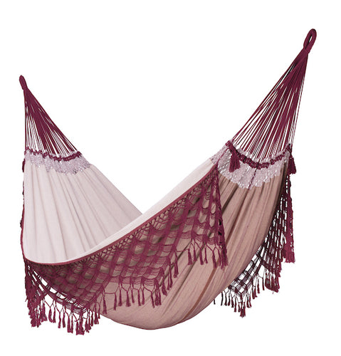Bossanova - Bordeaux - Luxury Organic Cotton Kingsize Hammock - HangingComfort