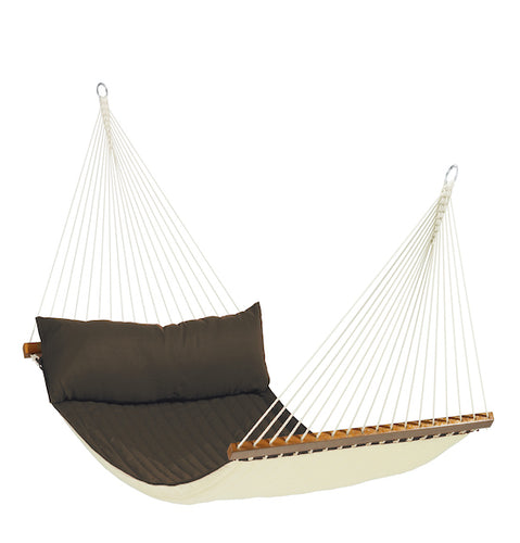 Alabama - Arabica - Quilted Kingsize Spreader Bar Hammock - HangingComfort