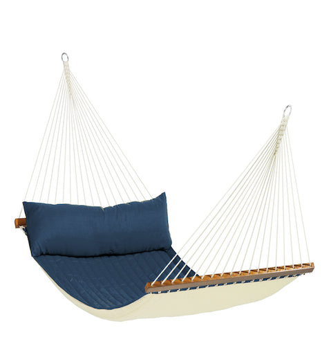 Alabama - Navy Blue - Quilted Kingsize Spreader Bar Hammock - HangingComfort