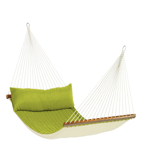 Alabama - Avocado - Quilted Kingsize Spreader Bar Hammock - HangingComfort