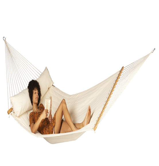 Alabama Vanilla Quilted Kingsize Spreader Bar Hammock