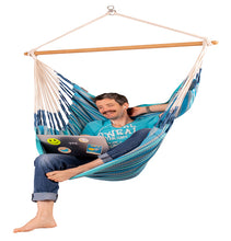 Load image into Gallery viewer, Habana - Azure - Organic Cotton Hammock Chair - HangingComfort
