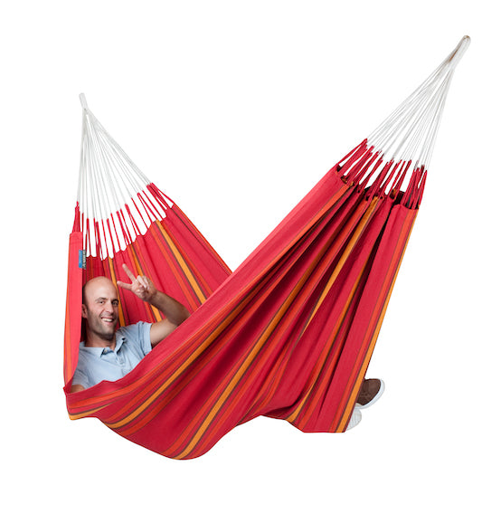Currambera - Cherry - Organic Cotton Double Hammock - HangingComfort