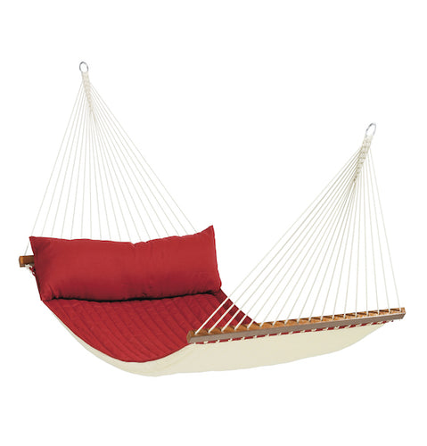 Alabama Red Pepper - Quilted Kingsize Spreader Bar Hammock - HangingComfort