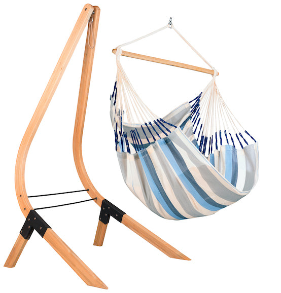 Vela - Caramel - Spruce Stand for King-Sized Hammock Chairs - HangingComfort
