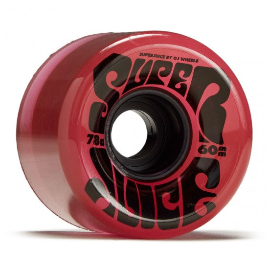 OJ Super Juice Translucent Red Wheels 78a 60mm