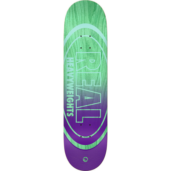 Real Heavyweights Teal Green Stain/Purple Deck 8.38