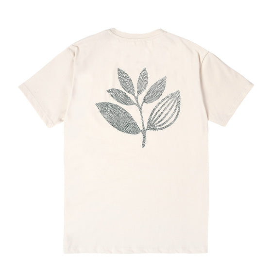 Magenta Points Plant Tee - Natural