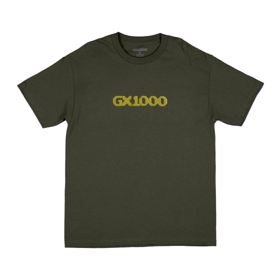 GX1000 - Dithered Logo Tee - Military Green