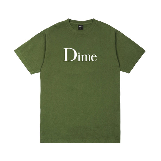 Dime Classic Logo Tee Olive Large