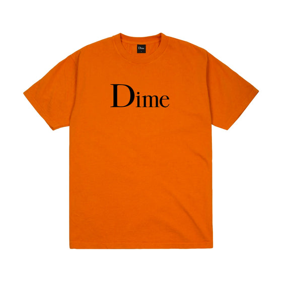 Dime Classic Logo Tee Burnt Orange Large