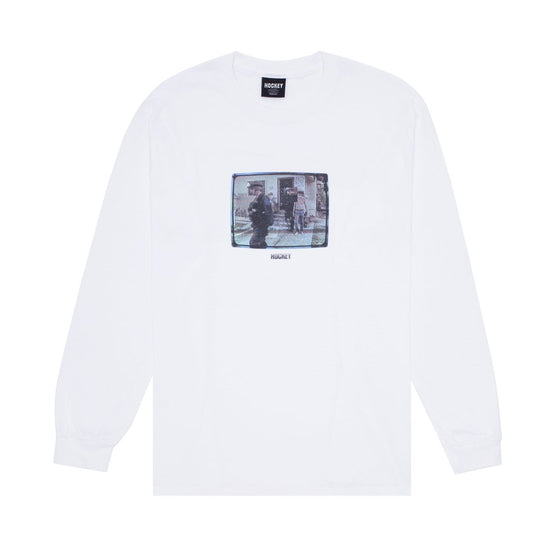 Hockey Ricks L/S Tee White Large