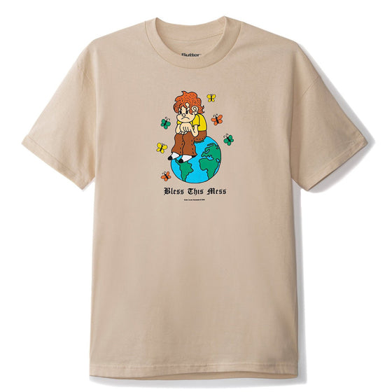 Butter Goods Bless This Mess Tee Sand Large