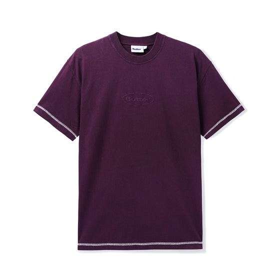 Butter Goods Chain Stitch Plum Tee Large