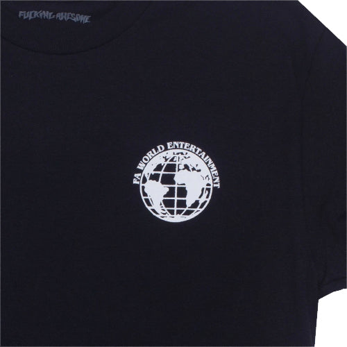 Fucking Awesome World Entertainment Tee Black