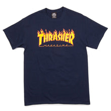 Thrasher Flame Tee Navy