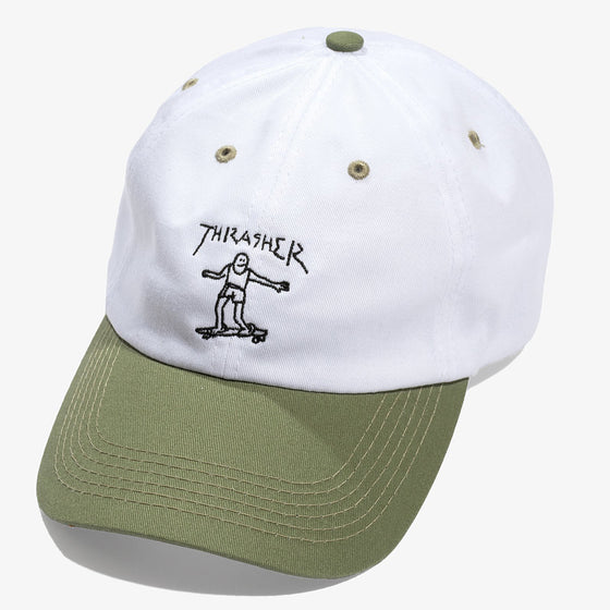 Thrasher Gonz Old Timer Hat White/Olive