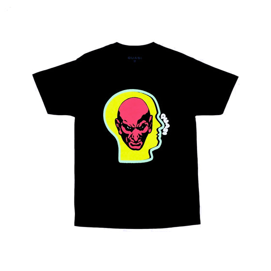 Quasi Heads Tee - Black - Large