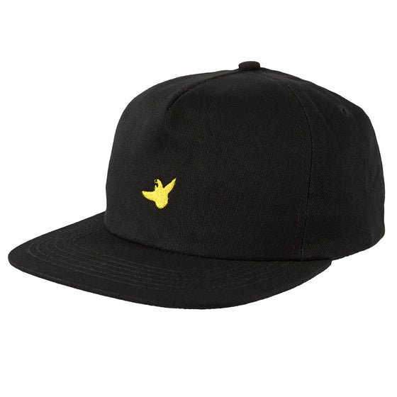 Krooked Og Bird Snapback - Black/Yellow