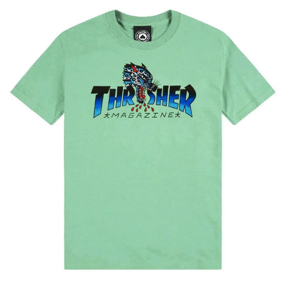 Thrasher Leopard Mag Shirt Mint Medium