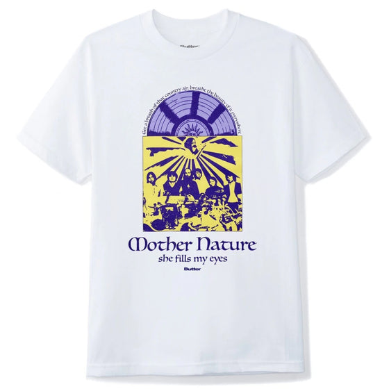 Butter Goods Mother Nature Tee White